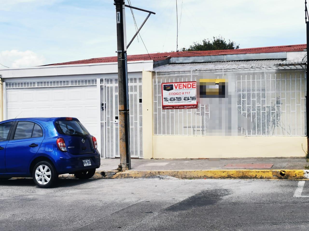 717 Se vende casa en Pavas. Cerca de la principal por el Pali.